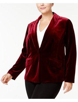I.N.C. Plus Size Velvet Blazer, Created For Macy's by Inc International Concepts