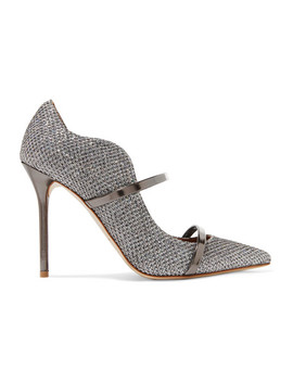 Maureen Glittered Leather Mules by Malone Souliers