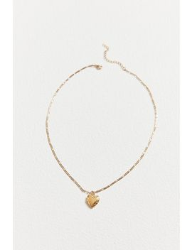 Mauve Etched Locket Necklace by Urban Outfitters