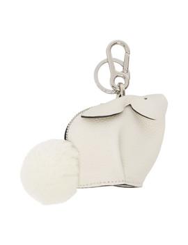 白色小兔子钥匙链 by Loewe