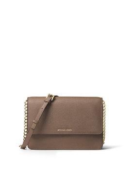 Daniella Large Saffiano Crossbody Bag, Dark Dune by Michael Michael Kors