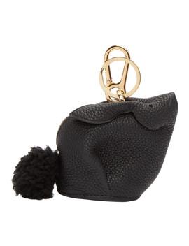 黑色小兔子护身符钥匙扣 by Loewe