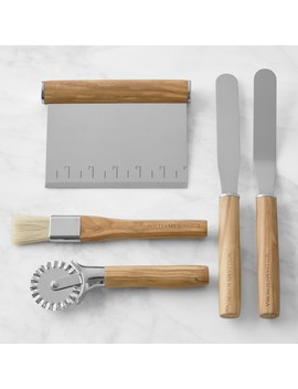 Williams Sonoma Olivewood Pastry Tools, Set Of 5 by Williams   Sonoma