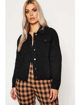 Plus Slim Fit Western Denim Jacket by Boohoo