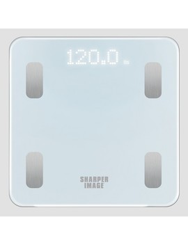 Personal Scale White   Sharper Image by Sharper Image