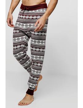 Fairisle Knitted Lounge Pants by Boohoo