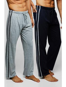 2 Pack Lounge Pants With Side Stripe by Boohoo