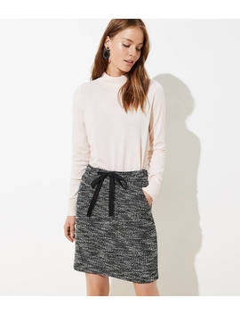 Boucle Pocket Drawstring Skirt by Loft