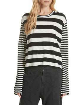 Stripe Crop Tee by The Great.