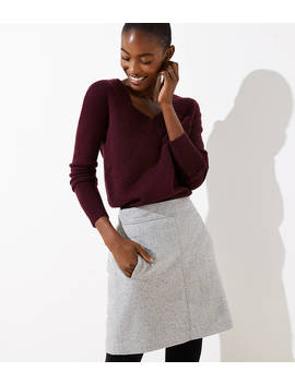 Speckled Pocket Shift Skirt by Loft