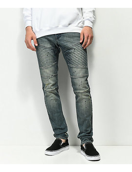 Ninth Hall Decoy Moto Clutch Dirty Blue Jeans by Ninth Hall