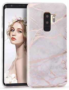 Imikoko Galaxy S9 Case, S9 Marble Case Shiny Black Rose Gold Marble Design Clear Bumper Tpu Soft Case Rubber Silicone Skin Cover For Samsung Galaxy S9 (5.8 Inch) by Imikoko