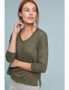 Sundry Metallic Star Top by Sundry