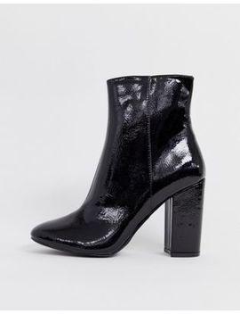 New Look   Bottines Vernies à Talons   Noir by New Look