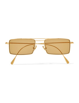Square Frame Gold Tone Sunglasses by Cutler And Gross