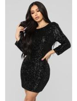 Perfect Party Sequin Dress   Black by Fashion Nova