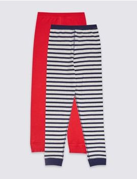 2 Pack Thermal Long Pants (18 Months   16 Years) by Marks & Spencer
