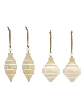 4ct Toymaker Wooden Spindels Christmas Ornament Set   Wondershop™ by Shop Collections