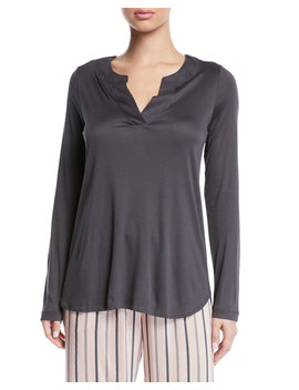 Malie Long Sleeve Lounge Shirt by Hanro