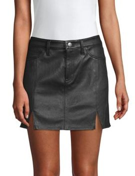 The Leather Mini Skirt by Current/Elliott