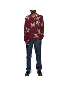 Butterfly Shirt Burgundy by Stussy