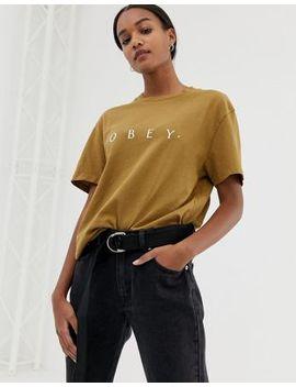 Obey   T Shirt Décontracté Avec Logo Sur Le Devant by Obey