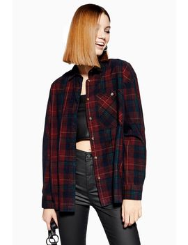 Check Corduroy Shirt by Topshop