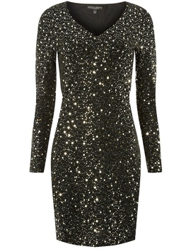 Glitter And Sequin Embellished Shift Dress by Dorothy Perkins