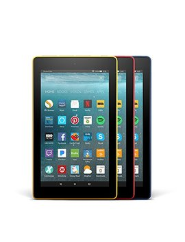 Fire 7 Variety Pack, 8 Gb   Includes Special Offers (Blue/Red/Yellow) by Amazon