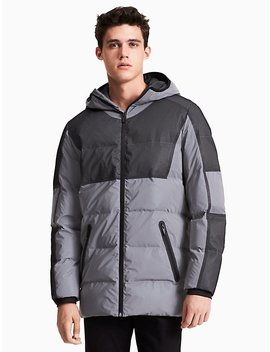 Ck Id Reflective Long Puffer Jacket by Calvin Klein
