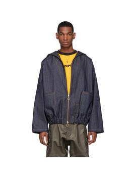 Ssense Exclusive Blue Denim Work Jacket by St Henri