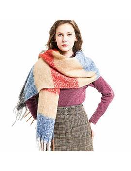 Plaid Scarfs For Women – Big Warm Cashmere Feel Tartan Blanket Wrap Winter Shawl by Hltpro