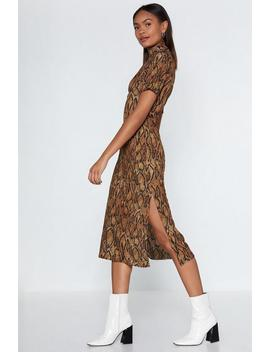 Pyth On The Other Hand Snake Dress by Nasty Gal
