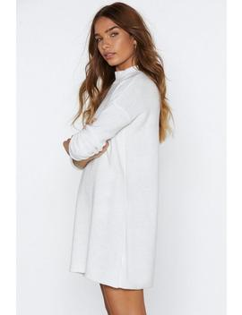Hug Knit Out Sweater Dress by Nasty Gal
