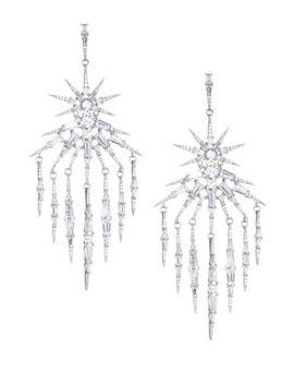 Nova Crystal Fringe Chandelier Drop Earrings by Adriana Orsini