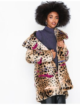 Cheetah Fur Coat by Glamorous