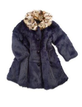 Little Girl's & Girl's Rabbit Fur Coat by Adrienne Landau