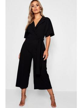 Plus Utility Culotte Jumpsuit by Boohoo