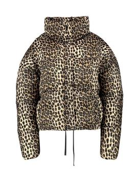 Leopard Print Puffer Coat by Boohoo