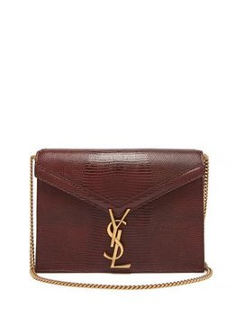 Cassandra Lizard Effect Leather Cross Body Bag by Saint Laurent