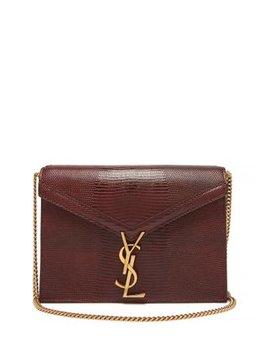 Cassandra Lizard Effect Leather Cross Body Bag by Saint Laurent