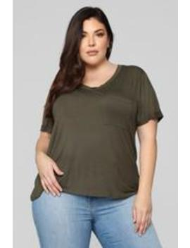 She So Basic Tee   Olive by Fashion Nova