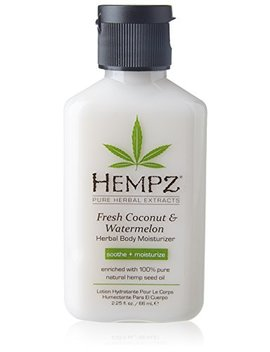 Hempz Herbal Body Moisturizer, Pearl White, Fresh Coconut/Watermelon, 2.25 Ounce by Hempz