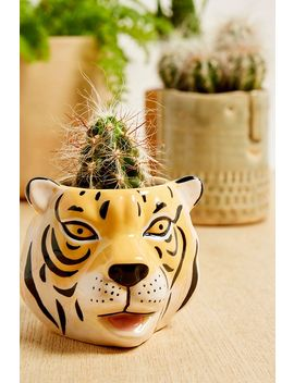 Mini Tiger Head Plant Pot by Urban Outfitters