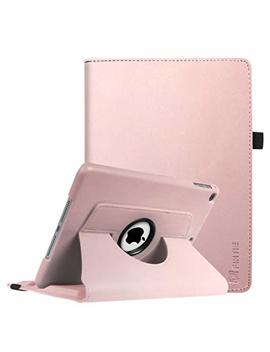 Fintie I Pad 9.7 2018 2017 / I Pad Air 2 / I Pad Air Case   360 Degree Rotating Stand Protective Cover With Auto Sleep Wake For Apple I Pad 9.7 6th 5th Gen, I Pad Air 1 2, Rose Gold by Fintie