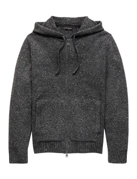 Donegal Full Zip Sweater Hoodie by Banana Repbulic