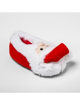 Toddler Holiday Santa Bootie Slippers   Wondershop™ Red by Shop This Collection