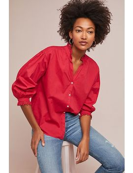 Myrella Poplin Blouse by Velvet By Graham & Spencer