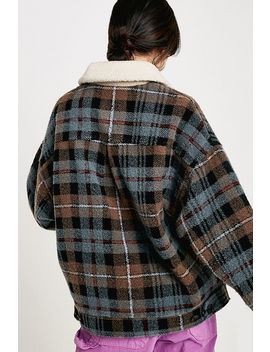 Uo Wool Check Harrington Jacket by Urban Outfitters