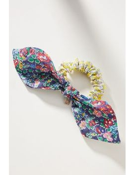 Pretty In Patterns Bow Ponytail Holder by Anthropologie